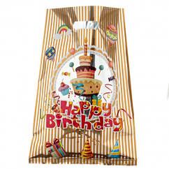 Пакеты подарочные  Happy birthday 10 штук