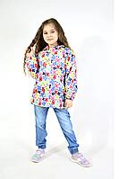 Дитяча вітровка на флісі на дівчинку на зріст від 104 до 122