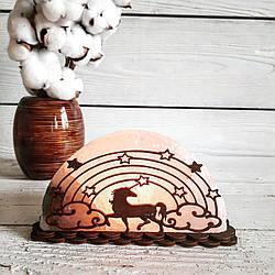 Соляная лампа Единорог 1,5 кг (18*9*6 см)