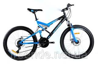 Подростковый Велосипед Azimut Scorpion 24 D (17) черно-синий