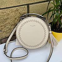 Стильная круглая сумка таблетка David Jones Bali Деви Джонс