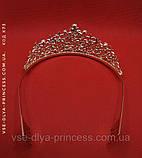 Корона, диадема, тиара в золоте, высота 5 см., фото 5