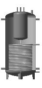 Аккумулирующая емкость комбинированная (с внутренним бойлером 160 дм3 та нижним теплообменником) ЕАВ-01-500 с