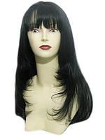 Парик с челкой из натуральных славянских волос качества Люкс. Оттенок №1в.