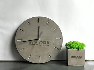 Часы с бетона d30 /Настенные часы из бетона /Дизайнерские настенные часы из бетона/Оригинальные часы из бетона