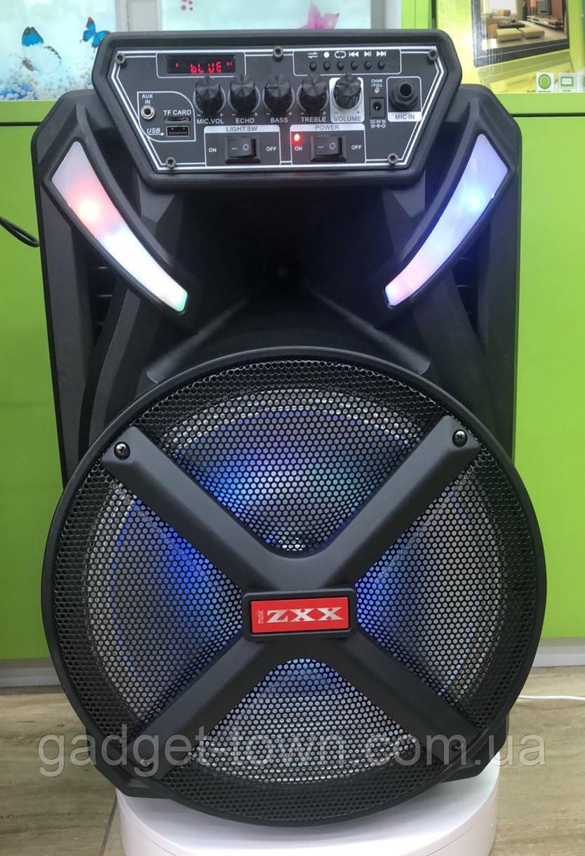 Колонка акумуляторна з радіомікрофоном ZXX-8884 / 120W (USB/FM/Bluetooth)