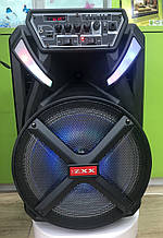 Колонка аккумуляторная с радиомикрофоном ZXX-8884 / 120W (USB/FM/Bluetooth)