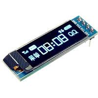 "OLED дисплей графічний SSD1306 I2C 0.91"" 128x32 Arduino AVR STM32"