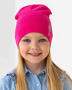 Шапка одношарова для дівчинки на весну-осінь оптом - Артикул IH22