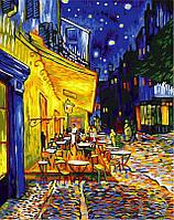 Рисование по номерам 40×50 см. Ночная терраса кафе Художник Ван Гог