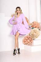 Женское стильное приталенное платье с длинным рукавом, фото 1