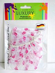 Шапочка для душа Beauty LUXURY полиэтиленовая с розочками CS-02