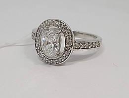 Срібне кільце з фіанітами. Артикул КК2Ф/382 16,5