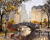 Картины по номерам 40×50 см. Старинный мостик
