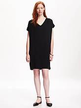 Платье кокон черное женское размер XS Old Navy женские платья миди мини