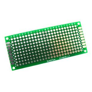 PCB 3x7 см двостороння друкована плата