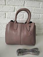 """Кожаная женская сумка """"Шарлот Pink"""", фото 1"""