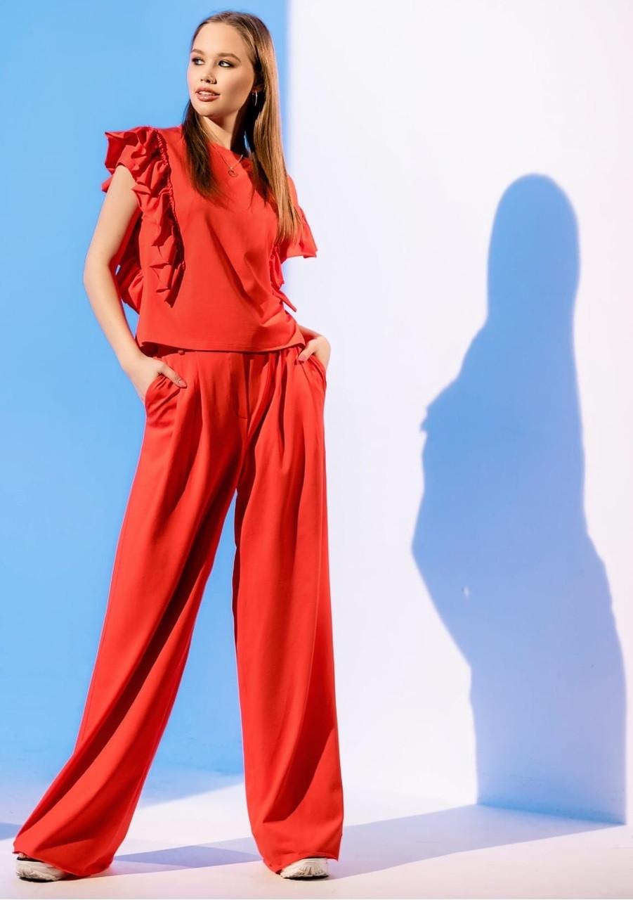 Модний костюм з брюками палаццо Gador (42–48р) в кольорах
