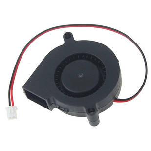Вентилятор равлик 50мм 12В 2пін відцентровий турбіна кулер 3D-принтера