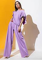 Модний костюм з брюками палаццо Gador (42–48р) в кольорах, фото 6