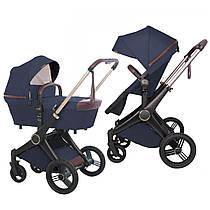 Дизайнерська універсальна коляска 2в1 Shom Roberto Verino Elegance Navy Blue