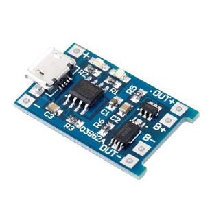 Модуль зарядки литиевых Li-ion батарей от MicroUSB и защита DW01