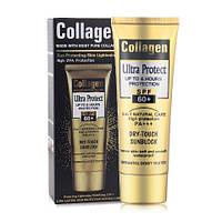 Сонцезахисний крем Wokali Collagen Ultra Protect Dry Touch 3 в 1 Захист SPF 60+ 100 мл