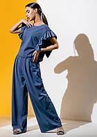 Модний костюм з брюками палаццо Gador (42–48р) в кольорах, фото 7