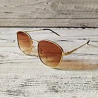 Модные солнцезащитные очки золотые, качественные мужские солнцезащитные очки от солнца Polaroid