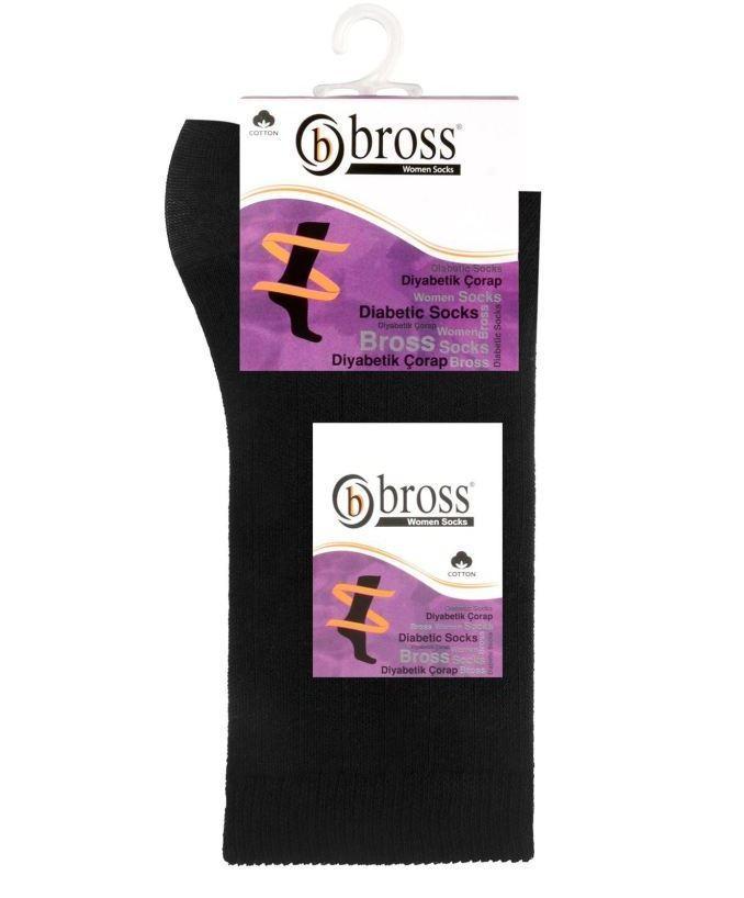 Шкарпетки жіночі для діабетиків Bross чорні