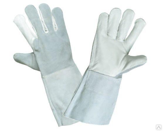 Перчатки краги кожаные спилковые летние для сварщиков