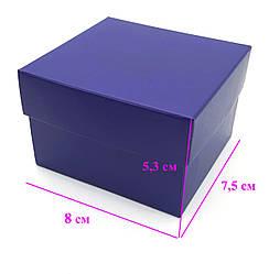 Подарочная коробка, Без подушки, темно-фиолетовая