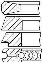 Поршневые кольца 02233074 для двигателя Deutz F4L912, запчасти Deutz