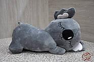 Плед - м'яка іграшка 3 в 1 (Коала сіра), фото 3