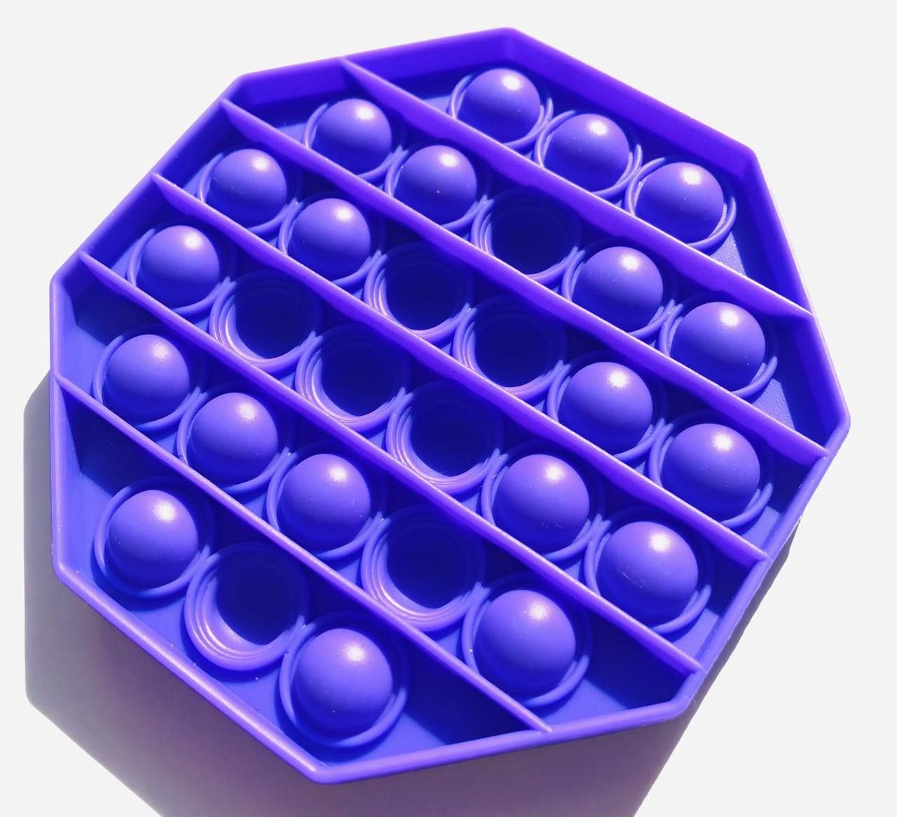Pop It сенсорная игрушка, пупырка, поп ит антистресс, pop it fidget, попит, фиолетовый восьмиугольник