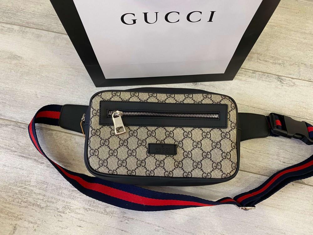 Поясна сумка бананка Gucci 21935 бежева