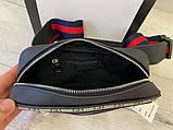 Поясна сумка бананка Gucci 21935 бежева, фото 5