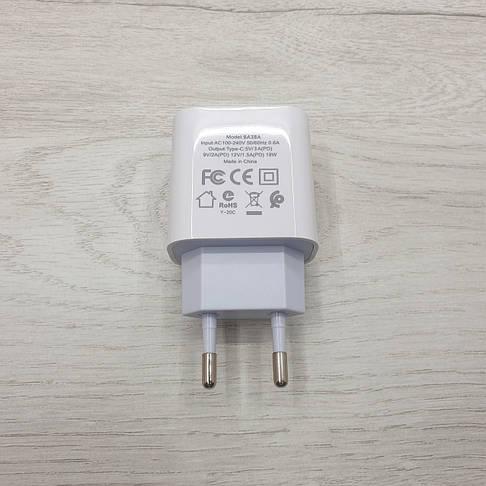 Сетевое зарядное устройство BOROFONE A38A Type-C (белое), фото 3