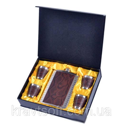 Подарочный набор фляга с рюмками №GT-18-2