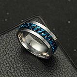 Женское кольцо с цепью 8 мм. Размеры: 18-22. Кольца женские из медицинской стали на большой палец, фото 2