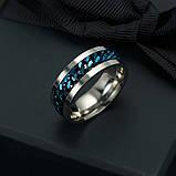 Женское кольцо с цепью 8 мм. Размеры: 18-22. Кольца женские из медицинской стали на большой палец, фото 3