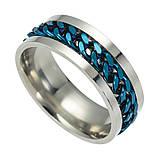 Женское кольцо с цепью 8 мм. Размеры: 18-22. Кольца женские из медицинской стали на большой палец, фото 4