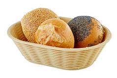 Кошик для хліба або фруктів овальна бежева APS 40215