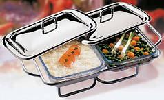 Емкость для подогрева 2х1,5 л APS 65030 чафиндиш для ресторана дома бара