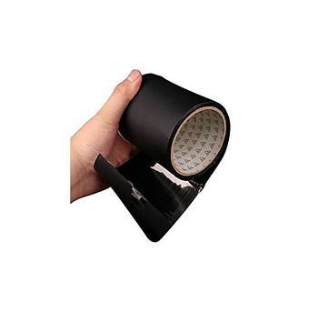 Водонепроникна ізоляційна клейка стрічка скотч 10х150 см Флекс тейп Flex Tape чорний