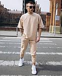 Чоловічий костюм стильний спортивний з футболкою, фото 3