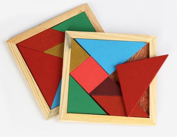 Разноцветный пазл-головоломка для детей Танграм