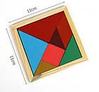 Разноцветный пазл-головоломка для детей Танграм, фото 2