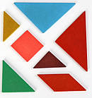 Разноцветный пазл-головоломка для детей Танграм, фото 3