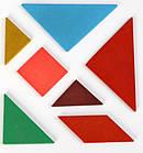 Різноколірний пазл-головоломка для дітей Танграм, фото 3